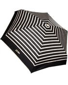 Jean Paul Gaultier Striped Folding Umbrella Blackcream - Lyst