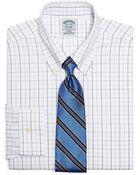 Brooks Brothers Supima Cotton Noniron Slim Fit Alternating Tattersall Dress Shirt - Lyst