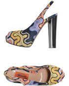 Missoni Platform Sandals - Lyst