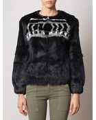 IRO Lorna Patterned Fur Jacket - Lyst