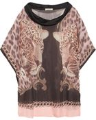 Emma Cook Printed Silk Chiffon Top - Lyst