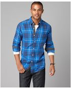 Tommy Hilfiger Virgil Plaid Button Front Shirt - Lyst