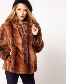 ASOS Collection Asos Vintage Swing Fur Coat - Lyst