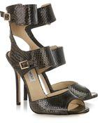 Jimmy Choo Quain Python Sandals - Lyst