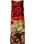 Erdem Adrianna Printed Velvet Dress - Lyst
