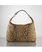 Ralph Lauren Leopard Haircalf Hobo - Lyst