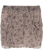 Vanessa Bruno Athé Printed Silk Chiffon Mini Skirt - Lyst