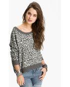 Free People Leopard Print Sweater - Lyst