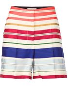 Stella McCartney Striped Short - Lyst