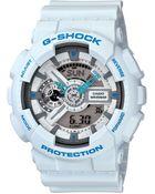 G-Shock Analog Digital White Resin Strap Watch  - Lyst