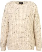 Topshop Knitted Speckle Slouch Jumper - Lyst