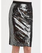 Moschino Cheap & Chic Sequinfront Pencil Skirt - Lyst