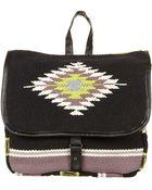 Topshop Aztec Blanket Backpack Satchel - Lyst