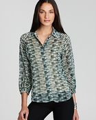 Laugh Cry Repeat Blouse Printed Dottie Button Front - Lyst