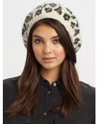 Eugenia Kim Evelyn Leopard Knit Beret - Lyst