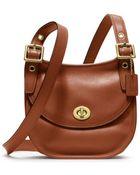 Coach Legacy Leather Mini Saddle Bag - Lyst