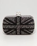Alexander McQueen Britannia Crystalencrusted Skullclasp Clutch Bag - Lyst