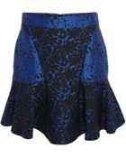 Stella McCartney Cobalt Patty Brocade Skirt - Lyst