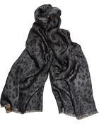 Dolce & Gabbana Leopard Print Silk Scarf - Lyst