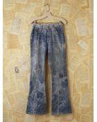 Free People Vintage Tie Dyed Lee Flare Jeans - Lyst
