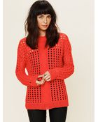 Free People Open Stitch Cable Pullover - Lyst