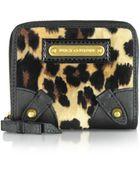 Juicy Couture Leopard Print Velour Wallet - Lyst