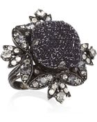 Lanvin Swarovski Crystal Ring - Lyst