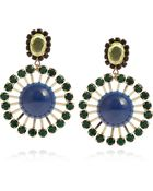 Marni Crystal and Resin Clip Earrings - Lyst