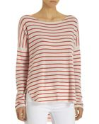 Vince Cashmere Striped Sweater - Lyst