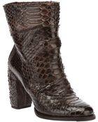 Silvano Sassetti Python Skin Ankle Boot - Lyst