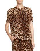 Dolce & Gabbana Oversized Leopard Top - Lyst