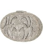 Topshop Oval Diamante Clutch - Lyst