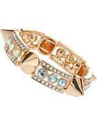 Topshop Stone Spike Stretch Bracelet - Lyst