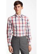 Thom Browne Poplin Check Shirt - Lyst