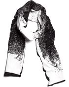String Theory Pixelate Cotton Scarf In Black & White - Lyst