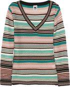 M Missoni Striped Woolblend Sweater - Lyst
