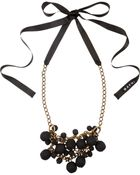 Marni Covered Bead Chain and Ribbon Necklaces - Lyst