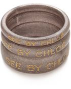 See By Chloé Logo Bangle Set - Lyst