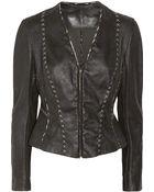 Donna Karan New York Leather Jacket - Lyst