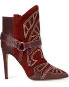 Isabel Marant Blackson Appliquéd Suede Ankle Boots - Lyst