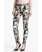 7 For All Mankind The Skinny Print Jeans  - Lyst
