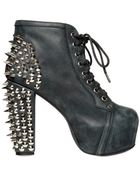 Jeffrey Campbell 120mm Lita Leather Spiked Boots - Lyst