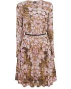 McQ by Alexander McQueen Rose Petal Draped Aline Jersey Dress - Lyst