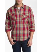 Obey Merrick Woven Plaid Shirt - Lyst
