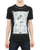 Philipp Plein Mickey Bw Print Jersey Tshirt - Lyst