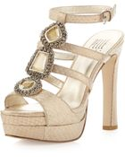 Pelle Moda Juneau Bejeweled Sandal Champagne - Lyst