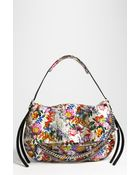 Jimmy Choo Biker Large Floral Genuine Python Shoulder Bag - Lyst