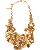 Oscar de la Renta Rose Petal Collar Necklace - Lyst