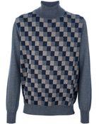 Les Copains Multicolour Striped Sweater - Lyst