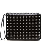 Christian Louboutin Cris Studded Leather Ipad Case - Lyst